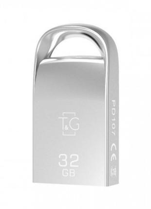 Флеш-драйв USB Flash Drive T&G; 107 Metal Series 32GB Серебряный