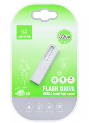 Флеш накопитель USAMS US-ZB098 32Gb Aluminum Alloy USB High Sp...
