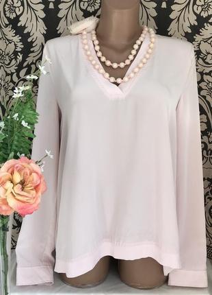 Пудровая ♥️😎 люксовая блузка с плиссировкой marc cain.