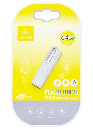 Флеш накопитель USAMS US-ZB099 64Gb Aluminum Alloy USB High Sp...