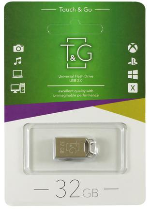 Флеш-драйв USB Flash Drive T&G; 110 Metal Series 32GB Серебряный