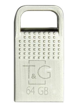 Флеш-драйв USB Flash Drive T&G; 113 Metal Series 64GB Серебряный
