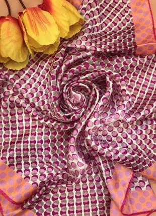 Брендовый 💯 шелковый платок 🌸 frangi 🌸, италия, 84х83.