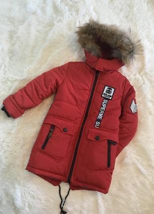 Новинка зимняя курточка на мальчика от 4 до 8 лет