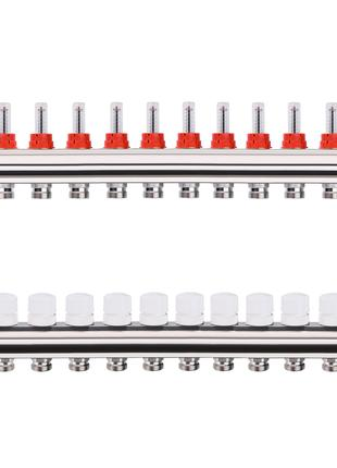 Коллектор с расходомерами, регуляторами и креплением ECO 001A 1