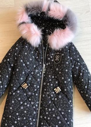 Бесподобное зимнее пальто девочке
