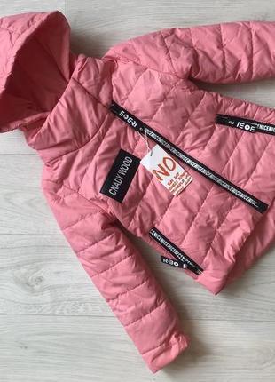 Демисезонные куртка косуха девочке