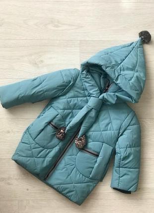 Деми сезонная куртка жилет на флисе