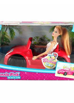 Кукла с машиной 'Bonnie Pink' (B088)