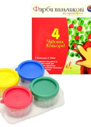 Краски пальчиковые, 4 цвета, 35 мл, Josef Otten