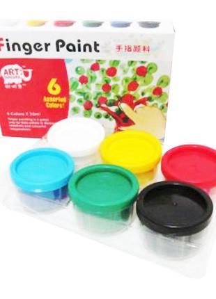 Краски пальчиковые, 6 цветов, 35 мл, Веселые рисунки, Josef Otten