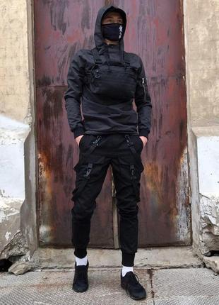 Куртка-анорак мужская пушка огонь wildscar черная