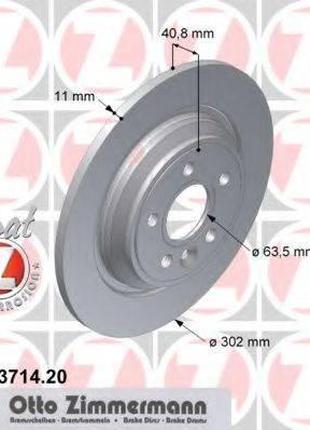 Тормозной диск ZIMMERMANN 610371420 на VOLVO V60