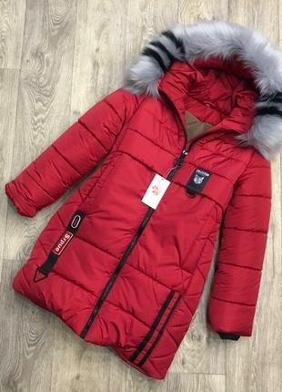 Красивые зимние куртки- парки для девочек