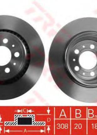 Тормозной диск TRW DF4338 на VOLVO XC90 I универсал