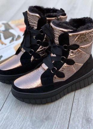 Крутые женские подростковые зимние ботинки