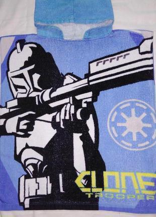 Яркое детское полотенце-пончо star wars