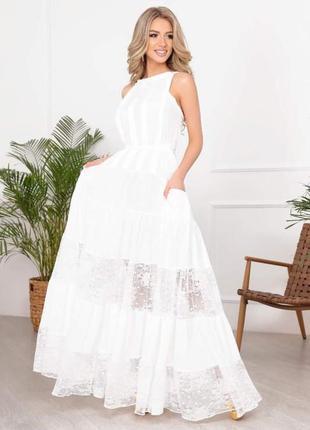 Белое платье , свадебное платье , вечернее платье , платье в пол