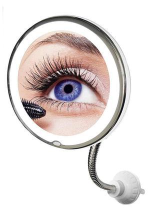 Гибкое зеркало на присоске Mirror 5X Ultra Flexible с подсветк...