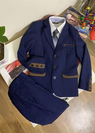 Luxik костюм школьный 128см классический костюм на мальчика