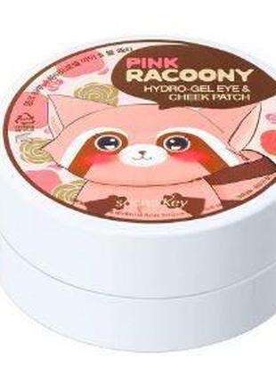 Патчи для глаз Secret Key Pink Racoony Hydro-Gel Eye & Cheek P...