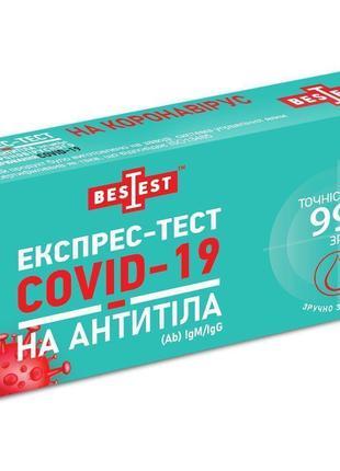 Тест Best Test на антитела IgM / IgG к коронавирусной инфекции...