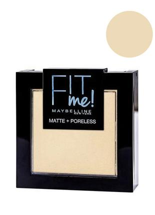 Maybelline Fit me Matte&Poreless; Powder Пудра для лица 105 na...