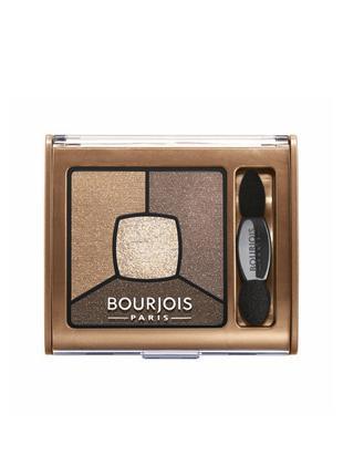 Bourjois Smoky Stories Palette Тени для век 4в1 06 Upside Brown