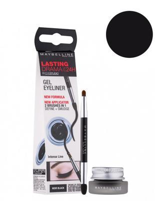 Maybelline LastingDrama 24h gel eyeliner гелевая подводка (чер...