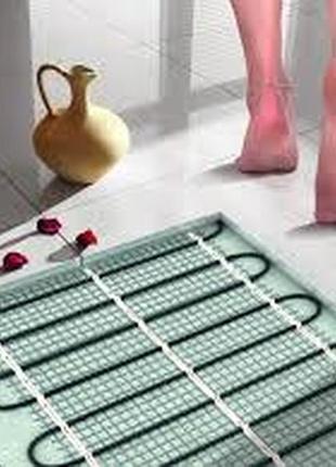 Теплый пол тепла підлога електрична кабель мат теплый пол кабель