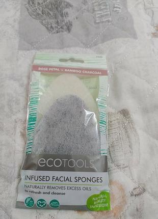 Спонжи, губки для очищения кожи лица ecotools.