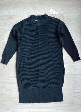 Стильный теплый длинный свитер, платье, m/l