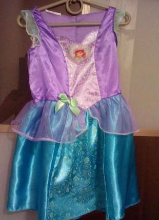 Карнавальное новогодное платье принцессы ариэль на 4-5 лет
