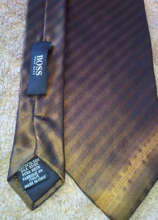 Мужской галстук/италия   шелковый hugo boss