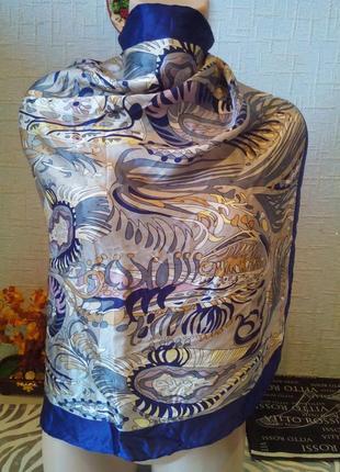 Розвантажуюсь ❤️ шелковый платок натуральный шелк шов роуль