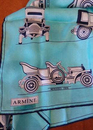 Великолепный шелковый платок  armine. состав 100% шелк.