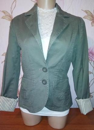 Джинсовая куртка коттон пиджак жакет h&m