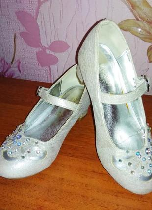 Серебристые туфельки monsoon children англия