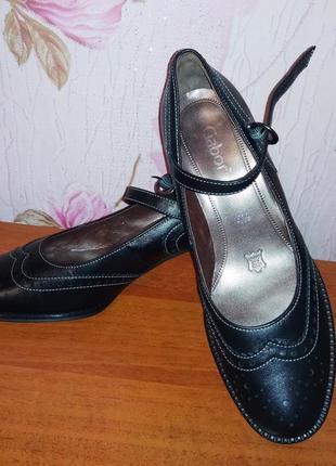 Gabor туфли закрытые босоножки натуральная кожа германия