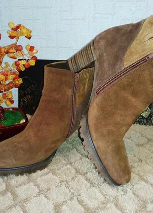 Замшевые ботильоны полусапожки ботинки gabor