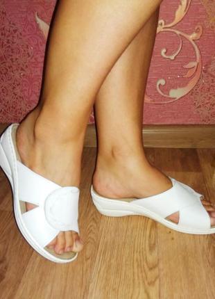 Softaise шлепанцы сандалии натуральная кожа италия