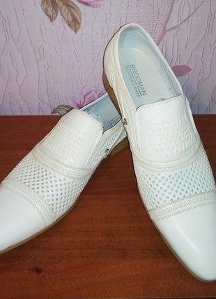 Аристократические классические туфли из натуральной кожи  brooman