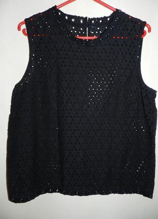 Шикарная,натуральная блузка с люверсами,прошва,кружева-шитьё