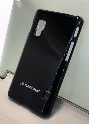 Чехол LG E455 Optimus L5 II Dual накладка бампер противоударны...