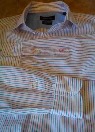 Шикарная мужская рубашка от бренда «massimo dutti»  finest fabric
