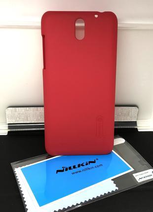 Чехол для HTC Desire 610 накладка Nillkin +пленка красный