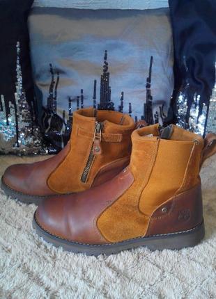 Крутые ботинки челси timberland 35р, стелька 22-22,5см.