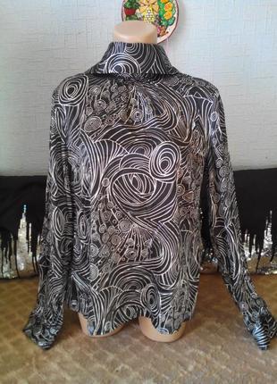 Elegance paris стильная блуза из натурального шелка.