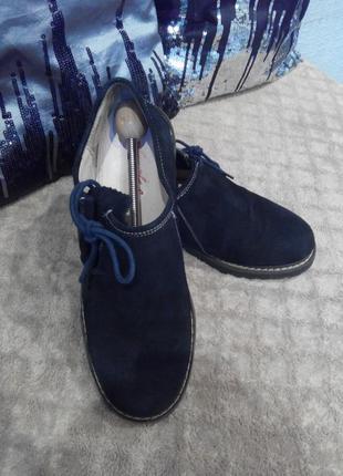 Фирменные мокасины туфли кроссовки fuchs оригинал кожа замш.