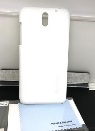 Чехол для HTC Desire 610 накладка Nillkin +пленка белый
